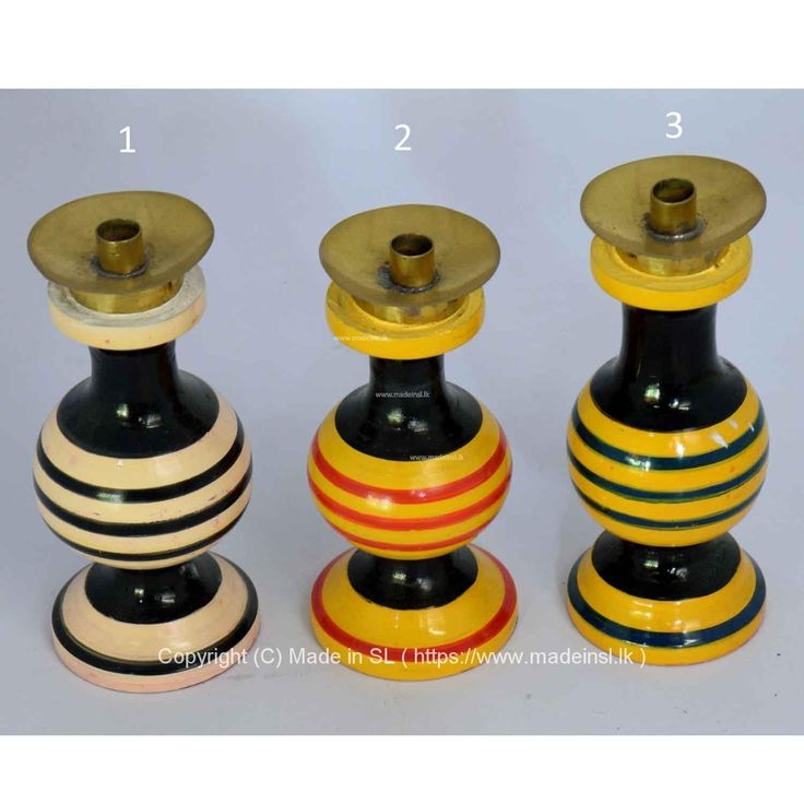 Wood Candle Holder-Lacquer work (Laksha)