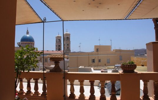 #GREECE #CYCLADES - SYROS - Ermoupoli - Villa Vaporia - sea view - washing machine - dishwasher - 6 persons, 3 bedrooms
