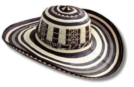 """S- vueltiao - The sombrero vueltiao (Colombian Spanish for turned hat) is a traditional hat from Colombia and one of its symbols. It is made out of Gynerium sagittatum known locally as caña flecha, a type of cane that grows in the region. The word vueltiao is a Colombian regionalism from the northern Caribbean Region and the area surrounding the Magdalena River basin that originate in the word for """"turn"""" or """"lap"""" (Spanish vuelta), and arose due to the way the hat is made."""