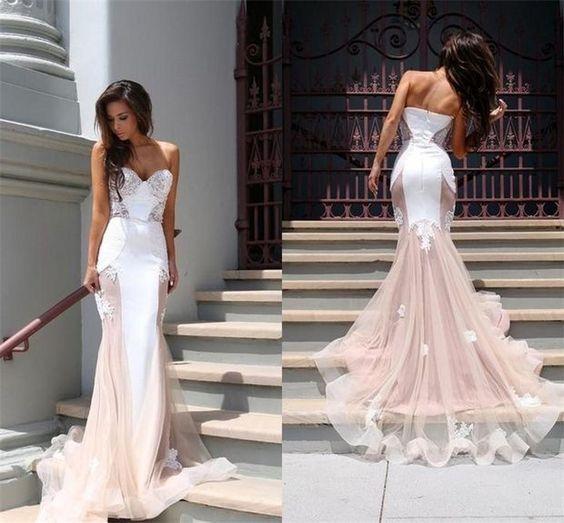 Charming Prom Dress,Mermaid Wedding Dress,Sweetheart Prom Dress,Sexy Wedding