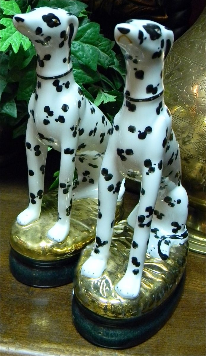 Probably reproductions of staffordshire dogs: but nice decor accessories