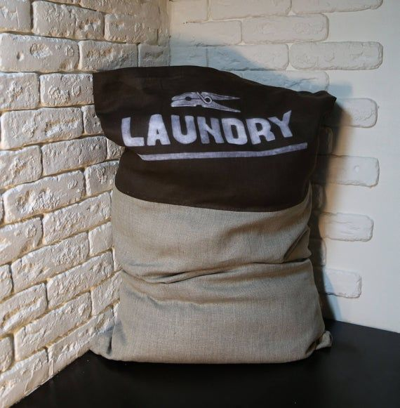 Personalized Laundry Bag Travel Reusable Hamper Personalized