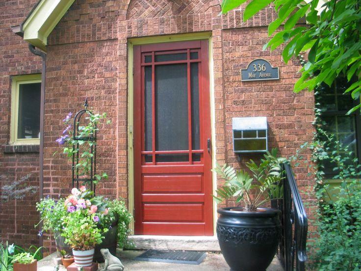 Best 25 wood storm doors ideas on pinterest wood screen for Wood front door with storm door