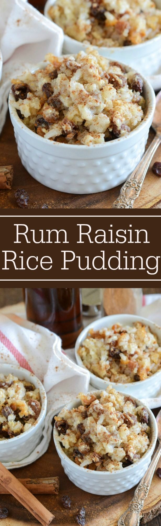 Rum Raisin Baked Rice Pudding! Use up that leftover rice and make rice pudding!