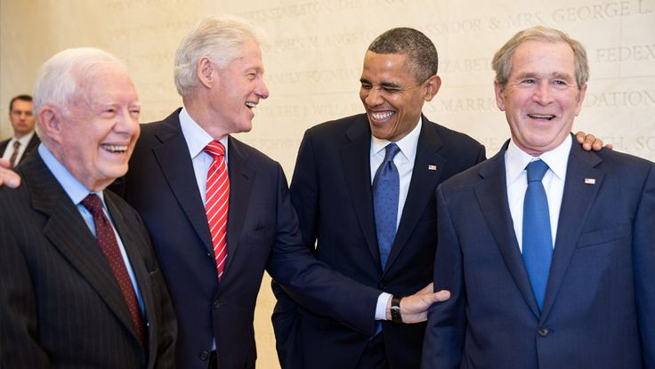 http://pinterest.com/pin/7248049377007696/ The Presidents - Timeline - WhiteHouse.gov  Jimmy Carter, Bill Clinton, Barack Obama and George W. Bush Together at the Lincoln Memorial