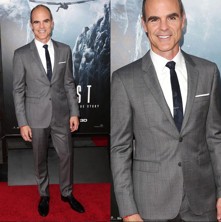 Actor Michael Kelly attended the Everest premiere in our tonal Camo necktie and classic gun metal tie bar. www.TheTieBar.com