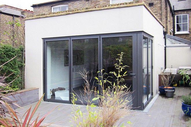 Aluminium set of corner doors