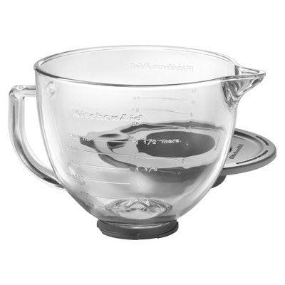 KitchenAid 5 Quart Glass Bowl Stand Mixer Accessory - K5GB, Clear