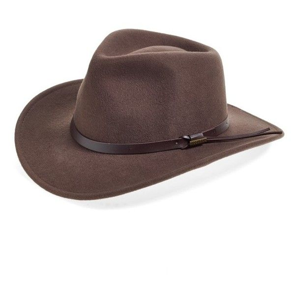 Woolrich Water Repellent Wool Felt Outback Hat ($25) ❤ liked on Polyvore  featuring men's