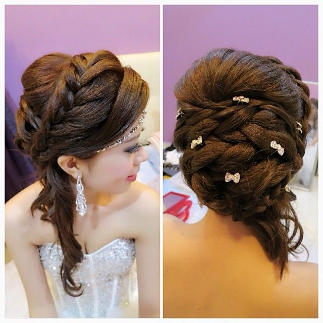 wedding dinner hair style wedding dinner makeup and hairdo braided hairstyle hair 8360