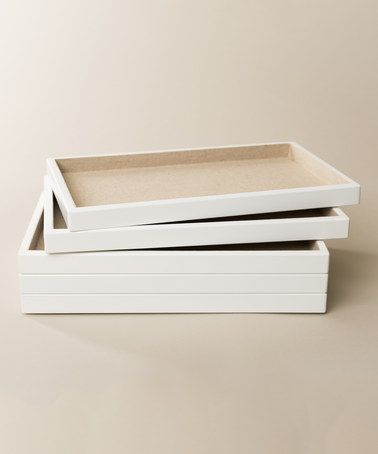 Look what I found on #zulily! Stackable Jewelry Tray - Set of Five #zulilyfinds
