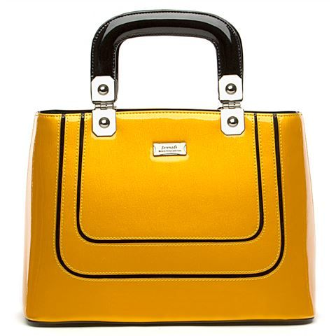 Serenade Leather - Pearlescent Yellow Handbag | Peter's of Kensington