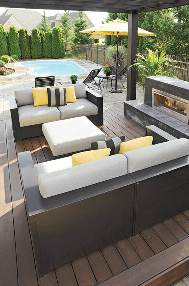 Outdoor Rooms & Kitchens Housetrends Pool Hardscapes - Dayton