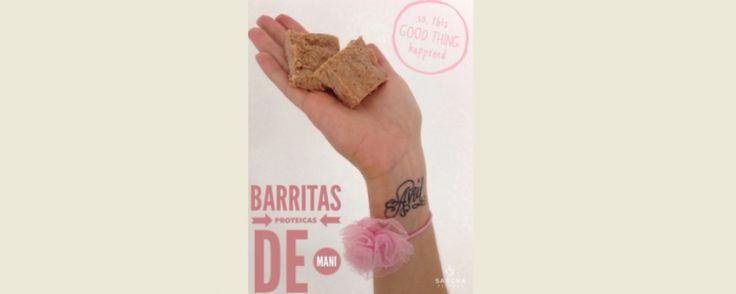 Barritas proteicas de maní