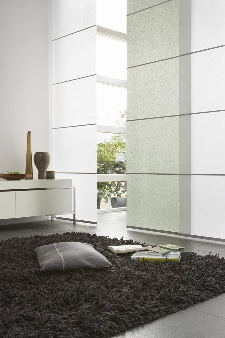 Home gt planning amp ideas gt sliding door curtains ideas gt cool white - 20 Cool Japanese Panels Ideas For Your Home Decor 20 Cool Japanese Panels Ideas For Your Home Decor With Black Rug And Cushion And Big White Room Divider
