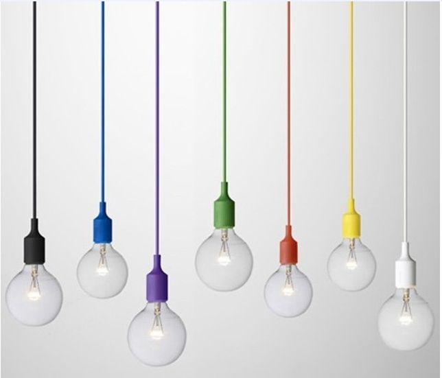 Eco friendly Multicolour Silica Gel Lamp Holder Pendant Light Lamp DIY Lamps Light Bulb(not included) Pendant Lamp GZMDS52-in Pendant Lights from Lights & Lighting on Aliexpress.com