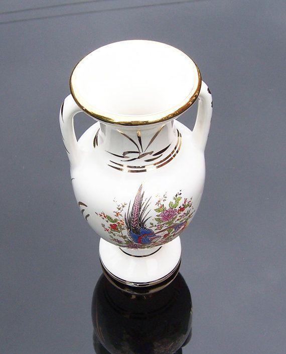 Vintage White Greek Urns/Vase with 24 k Gold by thesecretcupboard, $14.00