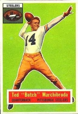 1956 Topps #51 Ted Marchibroda Front