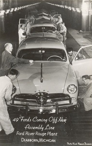 Ford Motor Company, Dearborn Michigan, 1949, Final Assembly