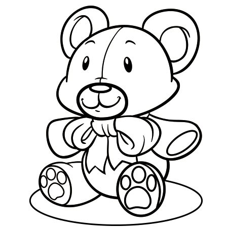 Dessin ours en peluche a colorier deco facile pinterest - Ours en dessin ...