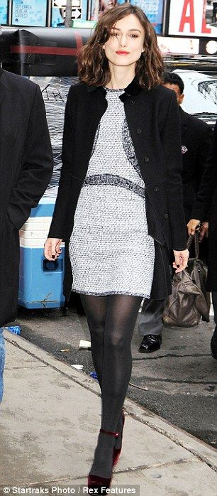 A true English rose! Keira Knightley is the picture of sophistication in grey…