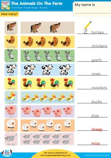 ... Many? Worksheet from Super Simple Learning. #preK #Kindergarten #ESL