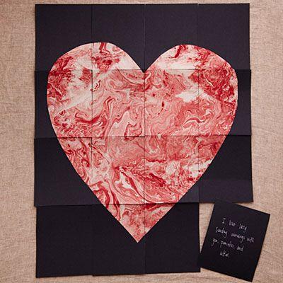 DIY Puzzle Heart Valentine
