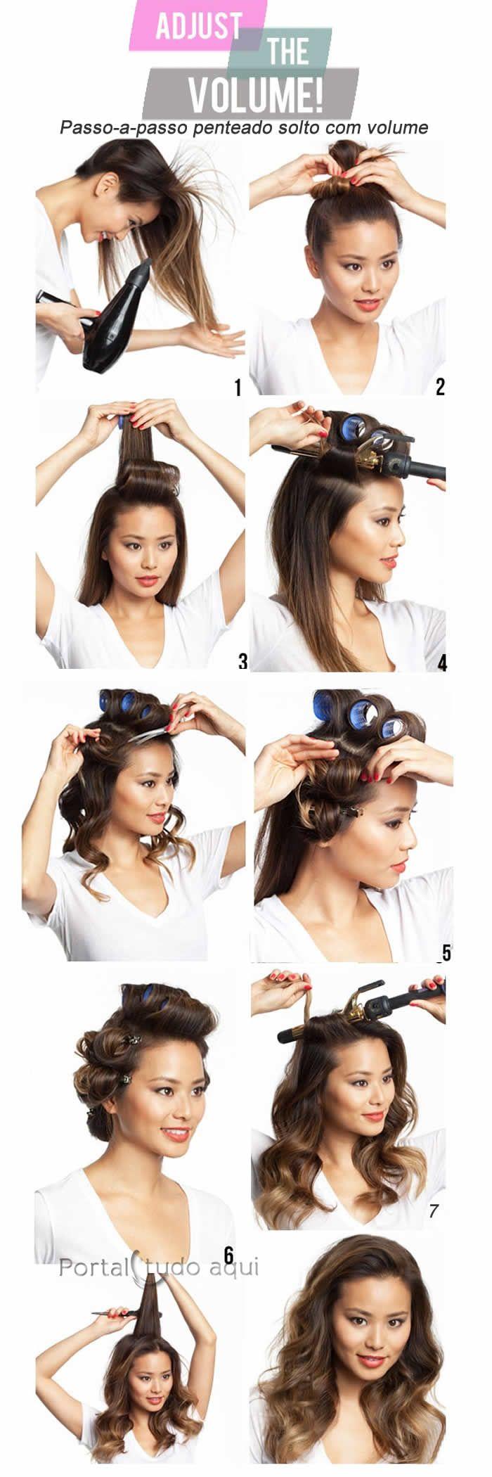 Aprenda a fazer um cabelo solto com ondas que dão volume aos cabelos finos seguindo o passo-a-passo.
