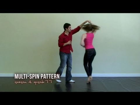 Multiple Spins Salsa Dance Pattern
