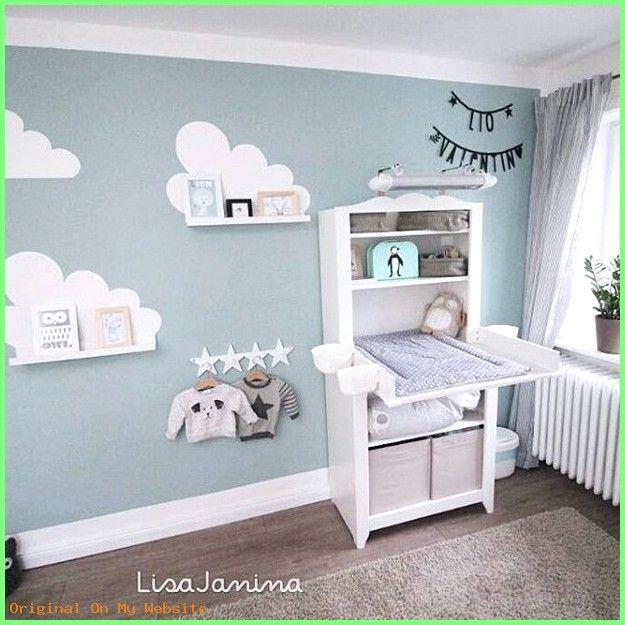 Baby Kinderzimmer Junge Wandgestaltung Babyzimmer Junge