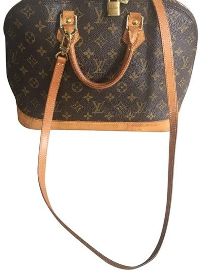 a0526028e06b Louis Vuitton Alma With Shoulder Strap Brown Leather Cross Body Bag -  Tradesy