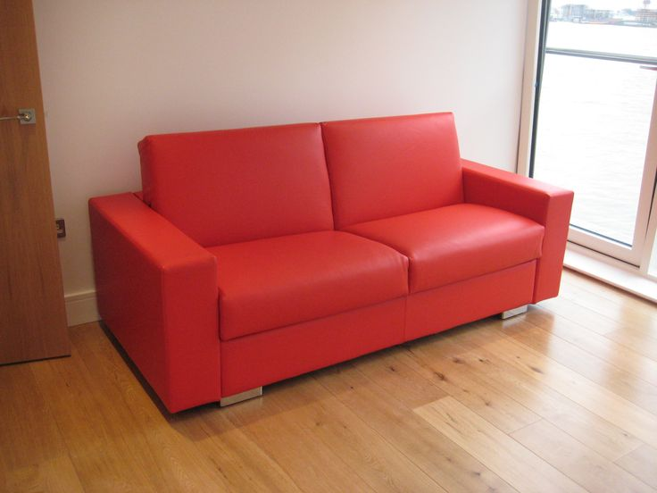 Lario Sofa Bed In U0027customer Ownu0027 Red Leather (shipped From Our Spanish  Supplier