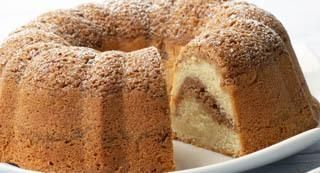Cinnamon Streusel Cake: Make this streusel Bundt cake even more impressive looking and tasting by drizzling with a Vanilla Glaze.