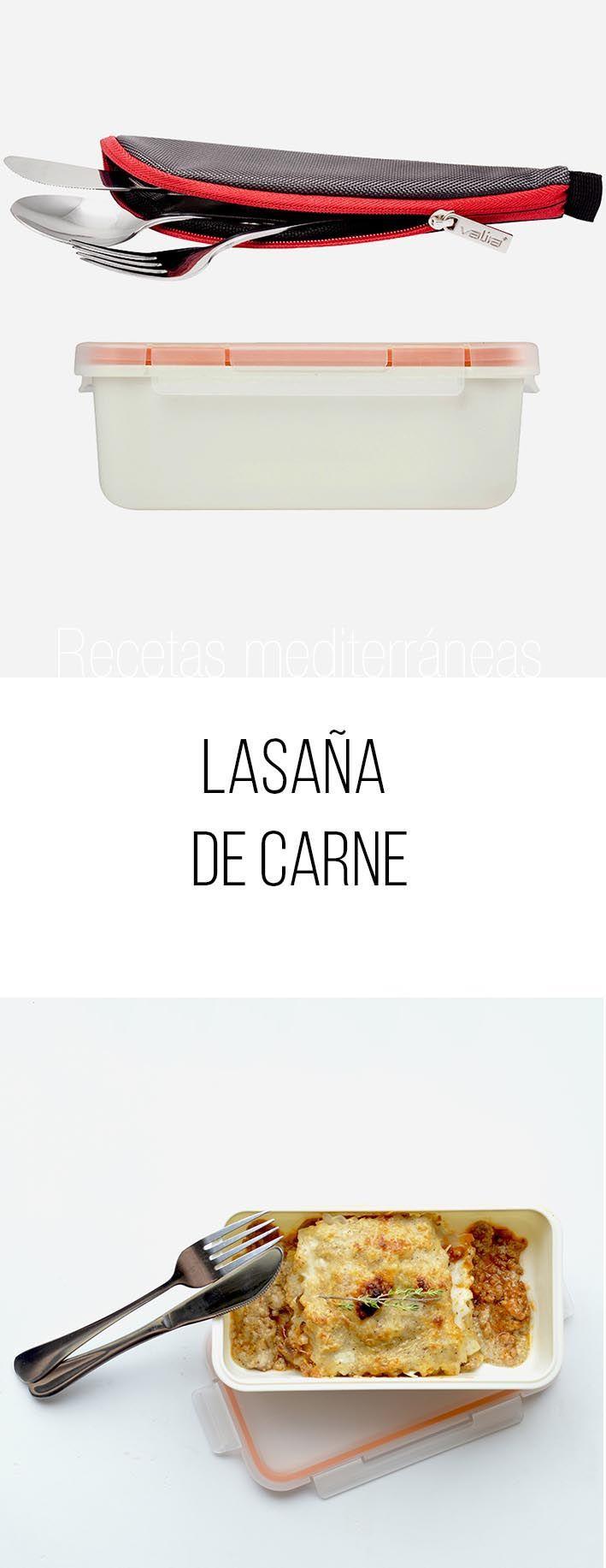 LASAÑA DE CARNE CON EL CONTENEDOR 0,75L Y KIT CUBIERTOS. #LunchBox #Valira #YoComoConValira