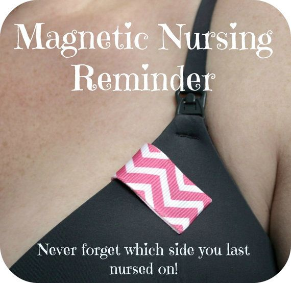 Nursing Reminder Clip in Pink Chevron  by SweetLittleReminders, $3.95 #breastfeeding #parenting #newborn