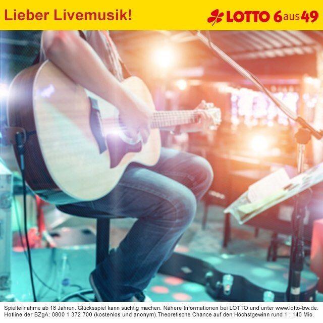 Keine Lust auf alte Playlists? Einfach Privatkonzert organisieren! Mit dem 15 Mio. Euro #Jackpot von #LOTTO 6aus49 kein Problem. Zum Spiel geht's hier: www.lotto-bw.de #lotto #lotto6aus49 #ichwärsogernemillionär #enjoy #dreamyourdream #lottodraw #wannabeamillionaire #instaphoto #pictureoftheday #photooftheday #lottobw #badenwuerttemberg #live #inconcert #musik #livemusic #musicismyfirstlove #playlist #setlist