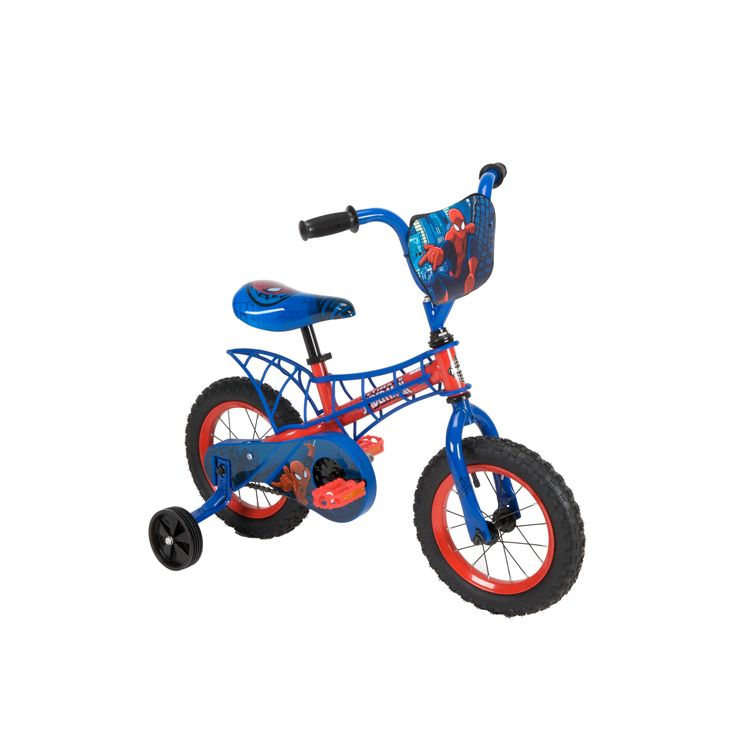 "Huffy 12"" Boys Bike with Webbed Frame - Disney Marvel Spiderman, Multi"