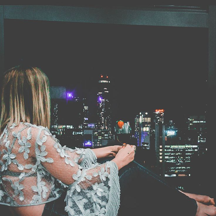 Looking out of the window... the city seemed like an array of twinkling fairy lights. Wanderlust. city view. city night lights. melbourne. fashion travel. beautiful view