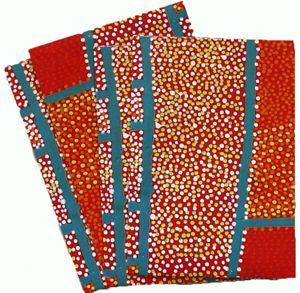 Aboriginal design Wrapping Paper  Warlukurlangu Arts Shorty Jangala Robertson Jangala Men - Rainmakers Size:  67cm X 50cm  Code:  WRAP-BWA/SJR $2.50 each