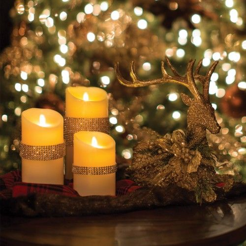7 decorated led flicker candle christmas decorations holiday decor pinterest - Appealing christmas led candles for christmas decorations ...