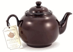 Brown Betty Teapot-The original unglazed teapot was made out of red clay from the Bradell Woods area in Stoke-on-Trent. British people believe the Brown Betty makes the best pot of tea because of the type of clay that is used and the shape of the pot.