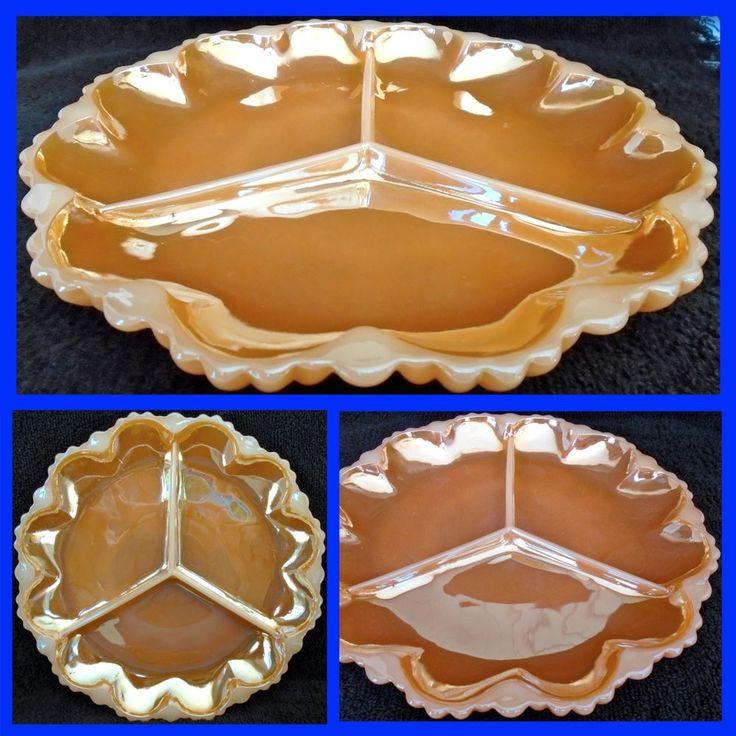 30 best Dinnerware: Glass, Peach Lustre images on Pinterest ...