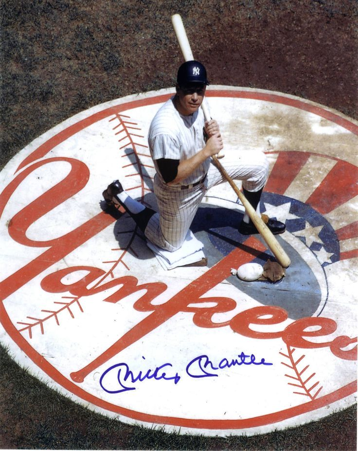 mickey mantle autographed color 810 wcoa