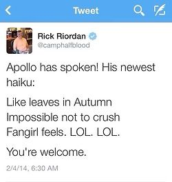 IM DYING XD NO no its..not..funny.. -_- <<< fangirls feel LOL LOL... thnx uncle rick SO much (notice the sarcasm)