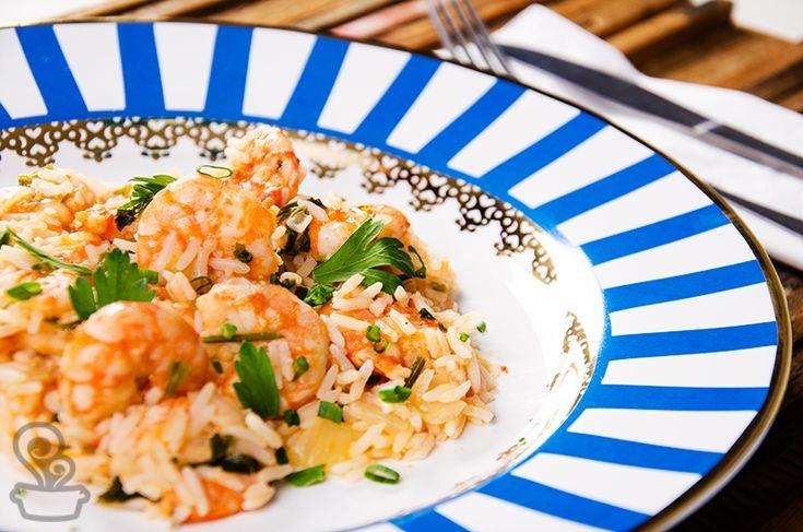 arroz de camarão com leite de coco