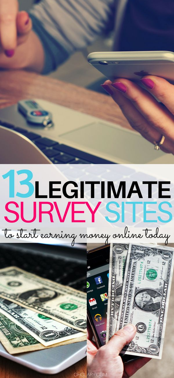 Are you looking for ways to make extra money from home? Survey sites are an amazing way to earn extra money in your PJs. I have a list of 13 survey sites to make money from home today. I personally use most of these sites so I know they are legitimate and actually pay out. Survey sites that pay, legit survey sites, best survey sites, survey sites extra cash, survey sites make money online #surveys #makemoneyfromhome