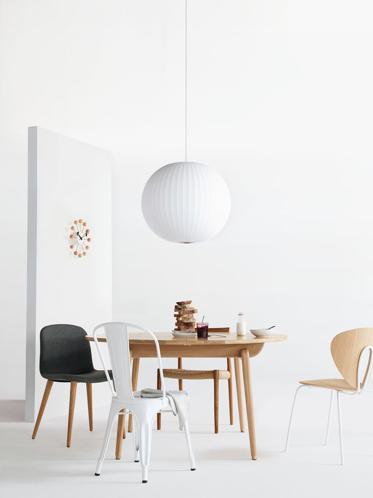 Mixing Chairs Including STUA Globus Chair With White Frame