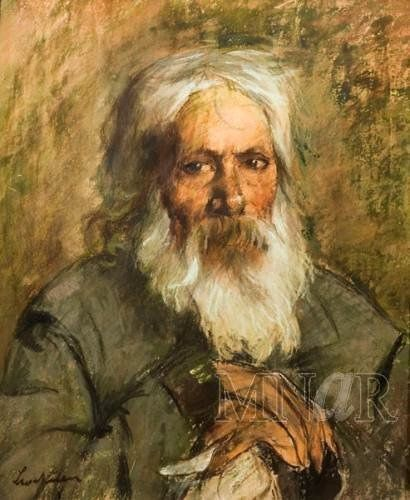 https://flic.kr/p/an4eBN | Luchian, Stefan (1868-1916) - 1902-07 Head of an Old Man (National Museum of Art of Romania) | Pastel on cardboard;    57 x 47 cm.  Romanian painter. He studied at the School of Fine Arts in Bucharest, graduating in 1889 and continuing his studies at the Akademie der Bildenden Künste in Munich and in Paris at the Académie Julian, where he was a student of William-Adolphe Bouguereau. He rejected the rigidity of academic painting early in his career, however. The…