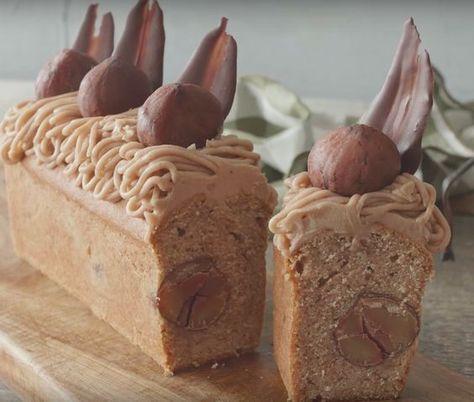 栗がゴロゴロ♩秋に食べたい「モンブラン風パウンドケーキ」の作り方♩ - macaroni