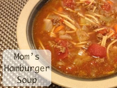 MumRx food Mom's hamburger soup